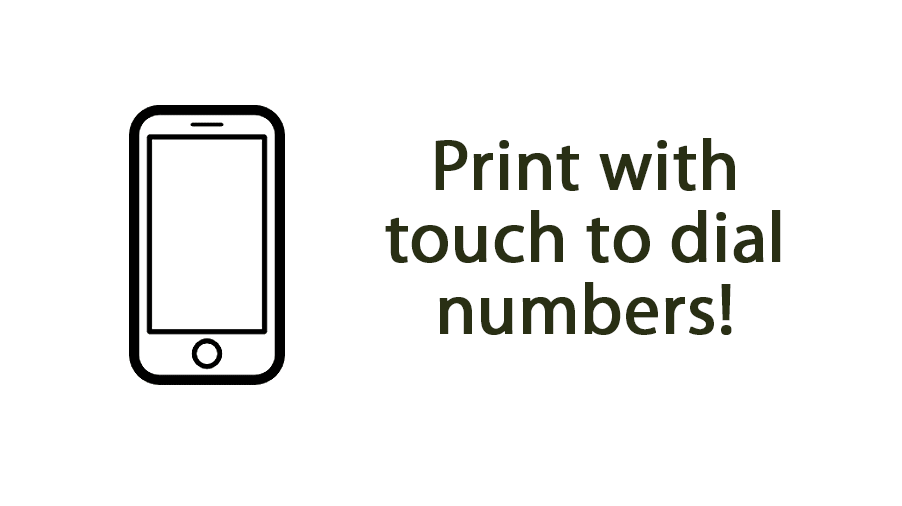 Print with touch to dial